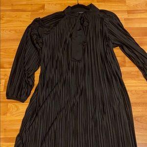 Zara Black Pleated Dress size L